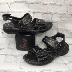 Josef Seibel blk Velcro European comfort sandals 7